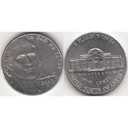 سکه 5 سنت - نیکل مس - آمریکا 2012 غیر بانکی
