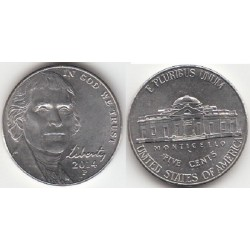 سکه 5 سنت - نیکل مس - آمریکا 2014 غیر بانکی