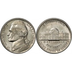 سکه 5 سنت - نیکل مس - آمریکا 1983 غیر بانکی