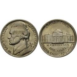 سکه 5 سنت - نیکل مس - آمریکا 1985 غیر بانکی