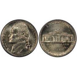 سکه 5 سنت - نیکل مس - آمریکا 1999 غیر بانکی