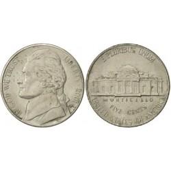 سکه 5 سنت - نیکل مس - آمریکا 2001 غیر بانکی