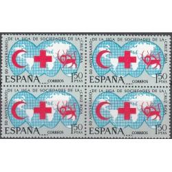 بلوک تمبر صلیب سرخ بین المللی - شیر و خورشید - اسپانیا 1969