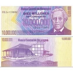اسکناس 10.000.000 کردوبا - نیکاراگوئه 1990