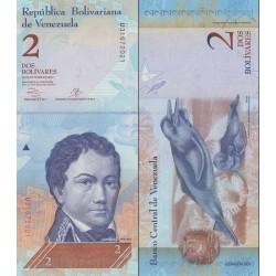 اسکناس 2 بولیوار - ونزوئلا 2013