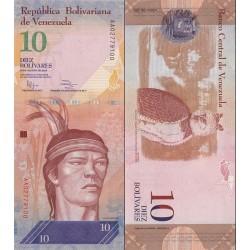 اسکناس 10 بولیوار - ونزوئلا 2014