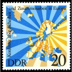 1 عدد تمبر کنفرانس امنیت و همکاری اروپا - جمهوری دموکراتیک آلمان 1975