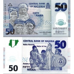 اسکناس پلیمر 50 نایرا - نیجریه 2016