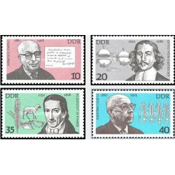 4 عدد تمبر شخصیتها - جمهوری دموکراتیک آلمان 1977