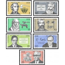 7 عدد تمبر شخصیتها - جمهوری دموکراتیک آلمان 1978