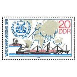 1 عدد تمبر کشتیرانی - جمهوری دموکراتیک آلمان 1979