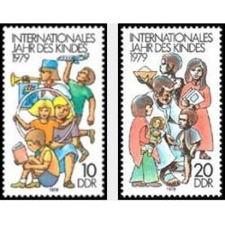 2 عدد تمبر سال کودک - جمهوری دموکراتیک آلمان 1979