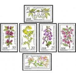6 عدد تمبر گلهای کمیاب  - جمهوری دموکراتیک آلمان 1981 قیمت 4.94 دلار