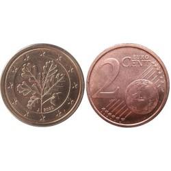 سکه 2 سنت یورو - مس روکش فولاد - آلمان 2002 غیر بانکی