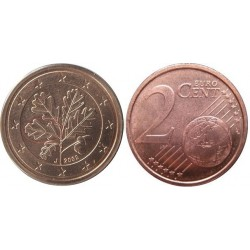 سکه 2 سنت یورو - مس روکش فولاد - آلمان 2006 غیر بانکی