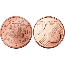 سکه 2 سنت یورو - مس روکش فولاد - لیتوانی 2015 غیر بانکی