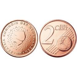 سکه 2 سنت یورو - مس روکش فولاد - هلند 2000 غیر بانکی