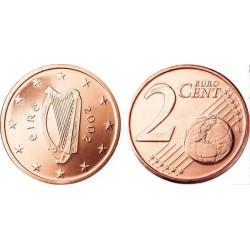سکه 2 سنت یورو - مس روکش فولاد - ایرلند 2006 غیر بانکی