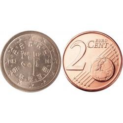 سکه 2 سنت یورو - مس روکش فولاد - پرتغال 2008 غیر بانکی