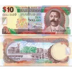 اسکناس 10 دلار - باربادوس 2012