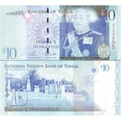 اسکناس 10 پانگا - پادشاهی تونگا 2009