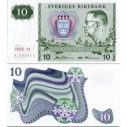 اسکناس 10 کرون - سوئد 1985 کیفیت 90%