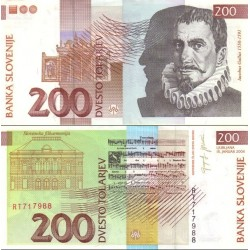 اسکناس 200 تولارجو - اسلوونی 2004