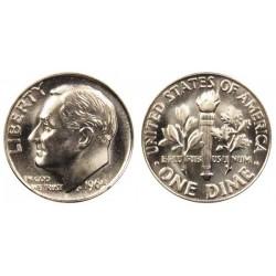 سکه 10 سنت - نیکل مس - آمریکا 1967 غیر بانکی