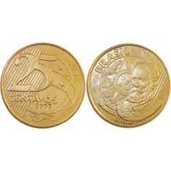 سکه 25 سنتاوس - برنج روکش استیل - برزیل 2012 غیر بانکی