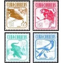 4 عدد تمبر سری پستی - حیوانات - کوبا 2005 قیمت 4.3 دلار