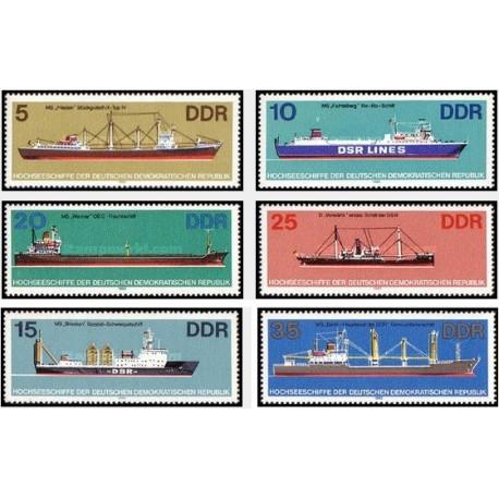 6 عدد تمبر کشتیها - جمهوری دموکراتیک آلمان 1982