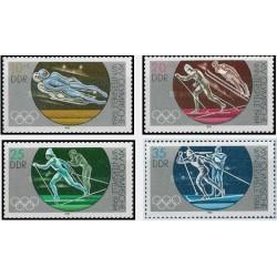 4 عدد تمبر المپیک زمستانی سارایوو ، یوگوسلاوی - جمهوری دموکراتیک آلمان 1983