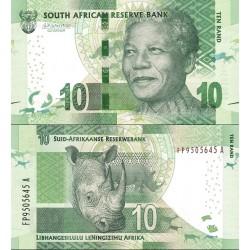 اسکناس 10 رند - تصویر نلسون ماندلا - آفریقای جنوبی 2016