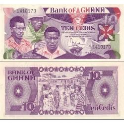 اسکناس 10 سدی - غنا 1984