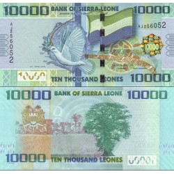 اسکناس 10000 لئون - سیرالئون 2010