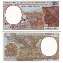 اسکناس 500 فرانک - کنگو 2002 - آفریقای مرکزی 2002  کد P