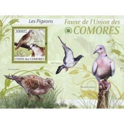 سونیرشیت پرندگان - کبوتر و فاخته - کومور 2009 قیمت 13.97 دلار