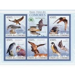 مینی شیت پرندگان - شاهینها - کومور 2009 قیمت 11.64 دلار