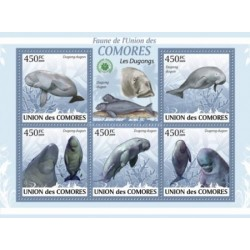 مینی شیت پستانداران - فیل دریائی - کومور 2009 قیمت 9.31 دلار