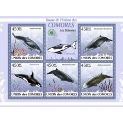 مینی شیت پستانداران - والها - کومور 2009 قیمت 11.64 دلار