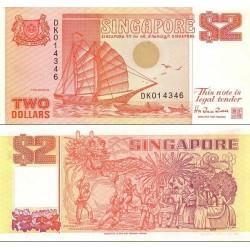 اسکناس 2 دلار - سنگاپور 1990