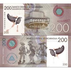 اسکناس پلیمر 200 کوردوبا - نیکاراگوئه 2014