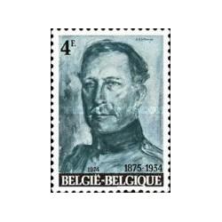 1 عدد تمبر یادبود چهلمین سال درگذشت شاه آلبرت اول  - بلژیک 1974