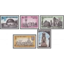 5 عدد تمبر مناسبات تاریخی -  بلژیک 1974