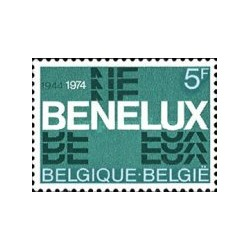 1 عدد تمبر 30ین سگرد اتحادیه بنلاکس -  بلژیک 1974