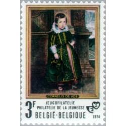 1 عدد تمبر فیلاتلیستهای جوان - تابلو  -  بلژیک 1974