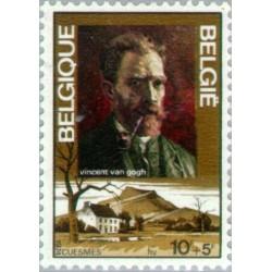 1 عدد تمبر یادبود ویسون ونگوگ  - تابلو -  بلژیک 1974
