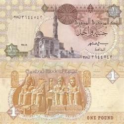 اسکناس 1 جنیه مصر 2007 تک امضاء فارومه