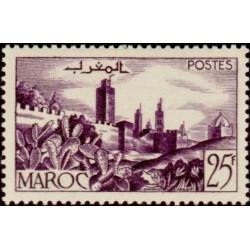 1 عدد تمبر  سری پستی - مناظر شهر -  مراکش 1954