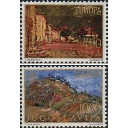 2 عدد تمبر مشترک اروپا - Europa Cept - مناظر طبیعی - یوگوسلاوی 1977